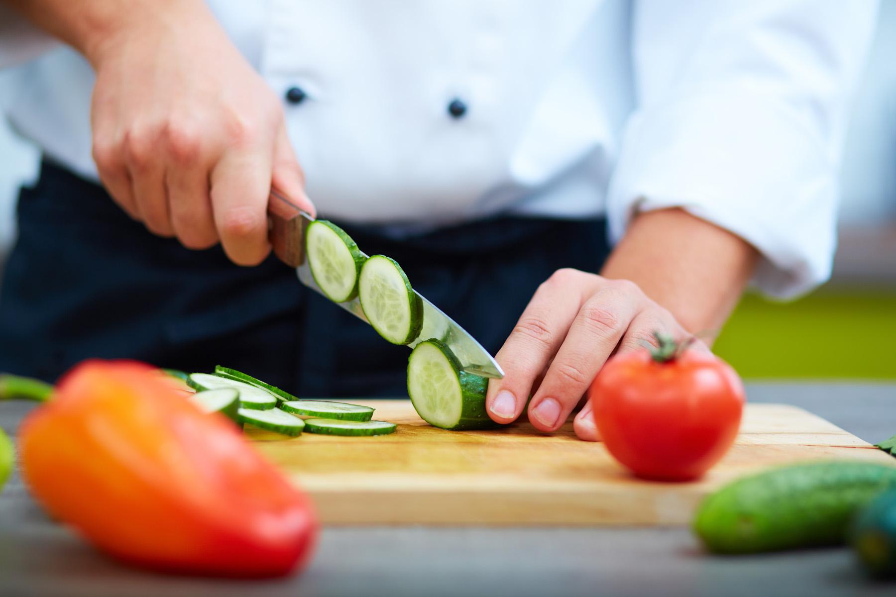 Chopping-veggies