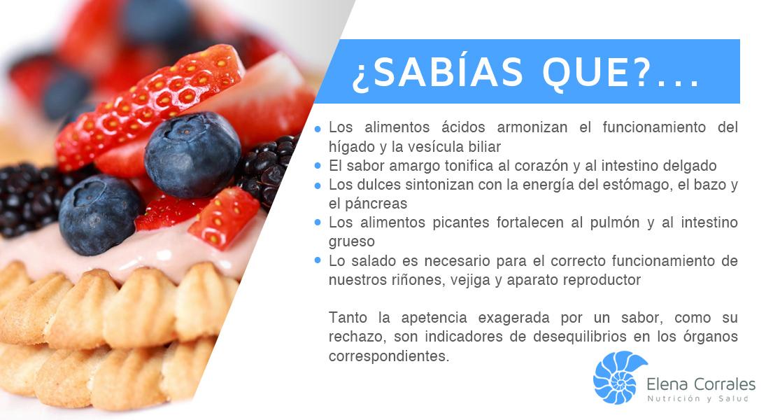 21. LOS SABORES DE LOS ALIMENTOS